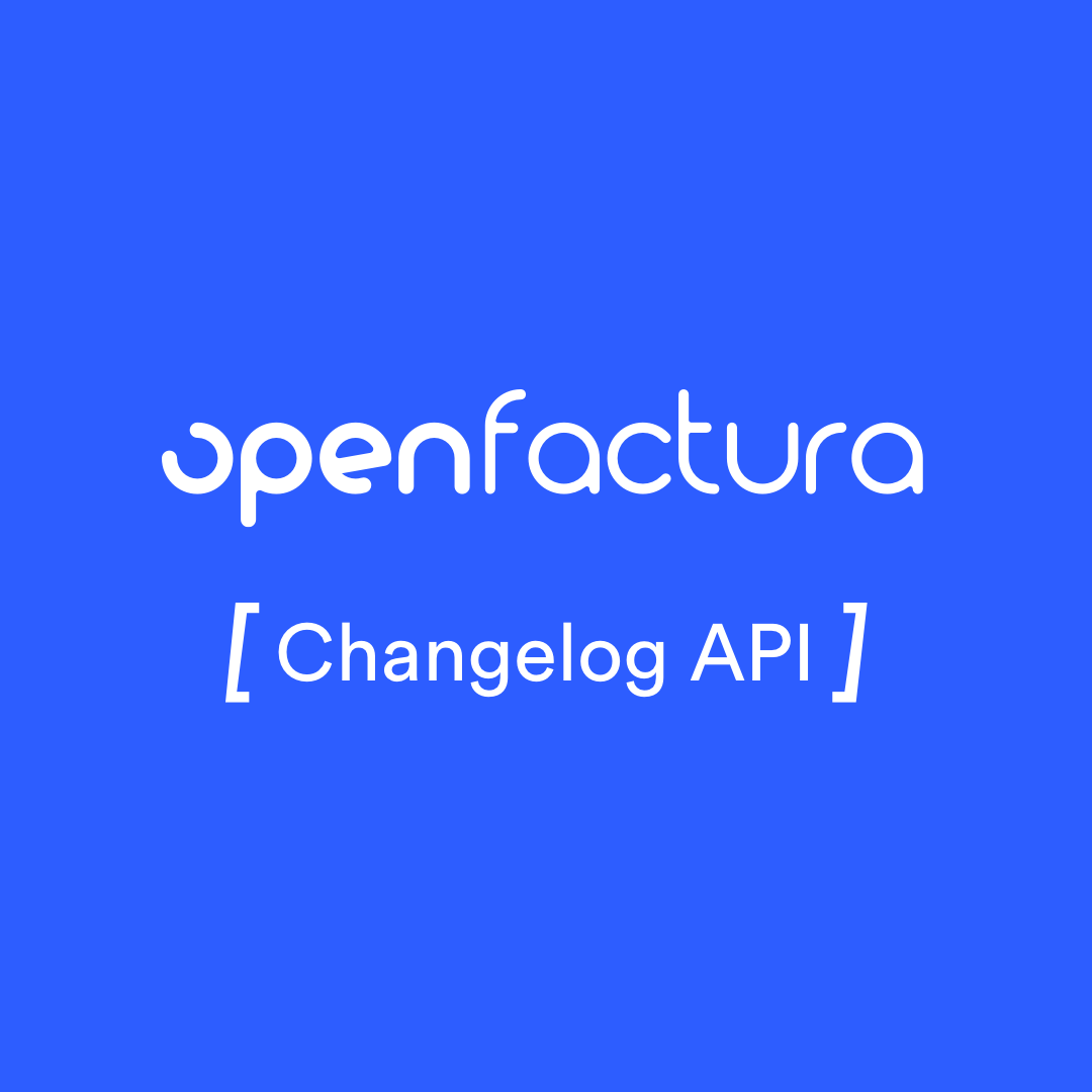 Changelog API Openfactura